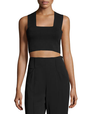 Image 1 of 4: Ali Stretch Racerback Crop Top