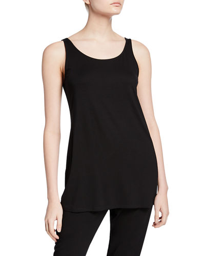Eileen Fisher Sleeveless Scoop-Neck Lightweight Jersey Tank and