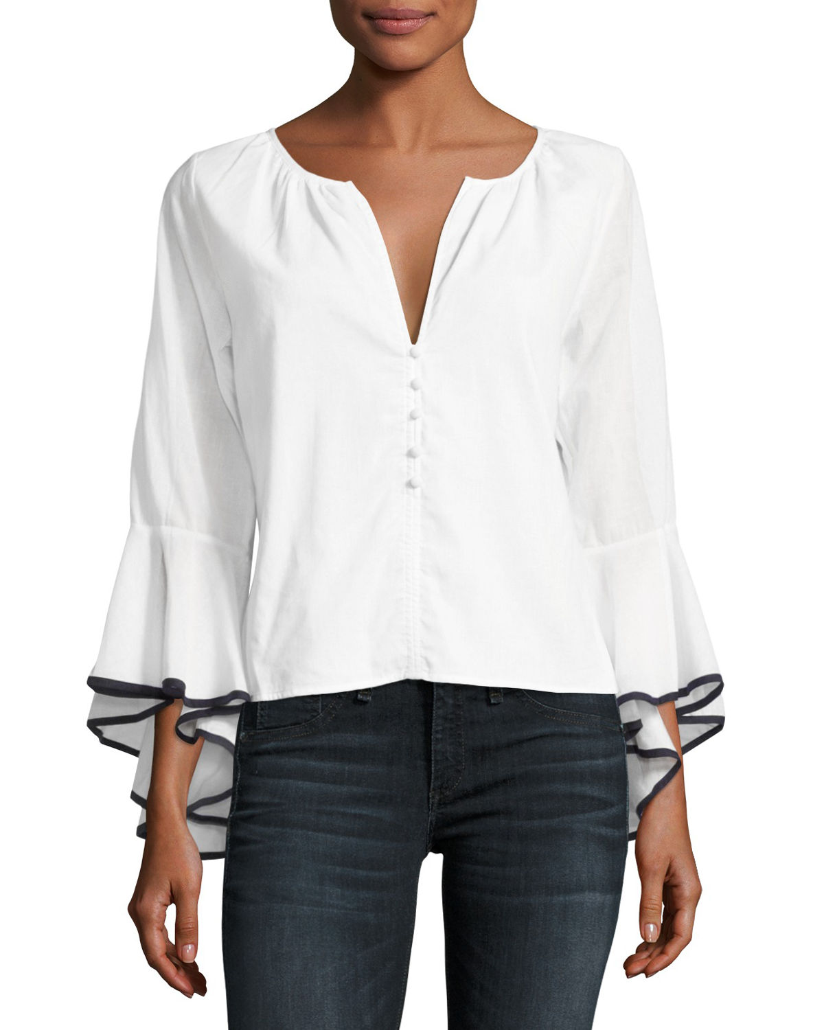 Segall Flared-Sleeve Top