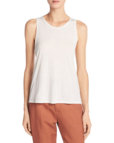 Vince Cotton-Silk Twist-Back Tank Top and Matching Items