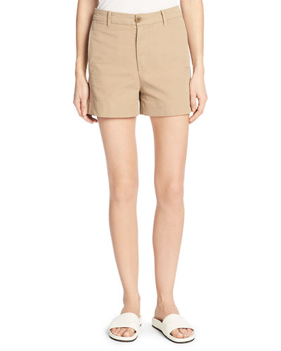 Stretch-Cotton Utility Shorts
