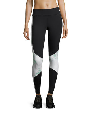 Image 1 of 5: Blocked Ankle Running Tights/Leggings