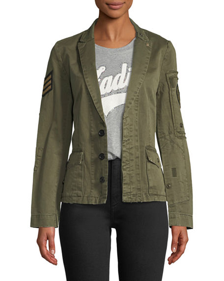 Zadig & Voltaire Virginia Grunge Cotton Jacket