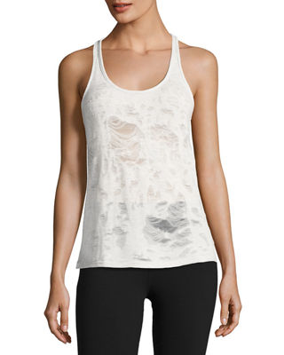 Alo Yoga Pure Distressed Racerback Athletic Tank