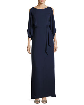 Kobi Halperin Hetty Cold-Shoulder Silk Evening Gown