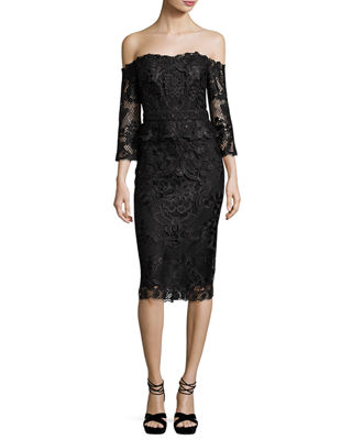 Adora Cold-Shoulder Floral Lace Cocktail Dress