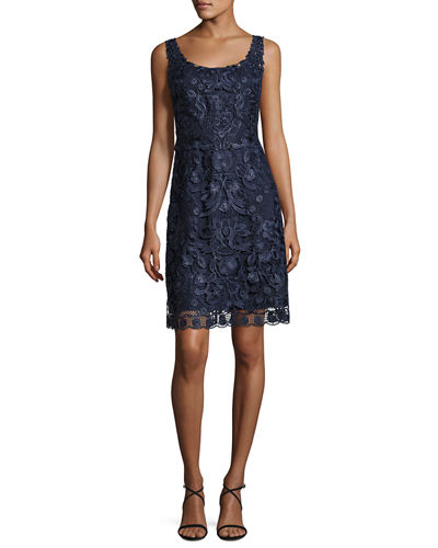 Kobi Halperin Carrie Sleeveless Embroidered Floral Cocktail Dress
