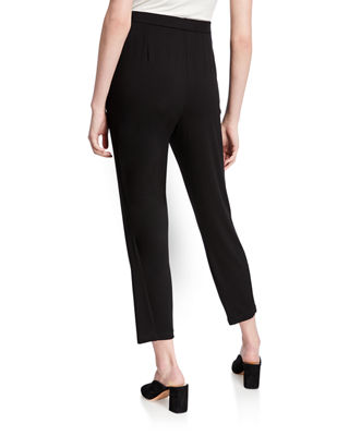 Image 2 of 3: Slim Slouchy Ankle Pants, Black