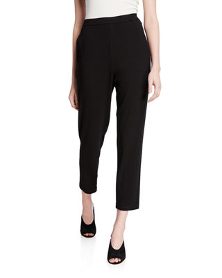 Image 1 of 3: Slim Slouchy Ankle Pants, Black