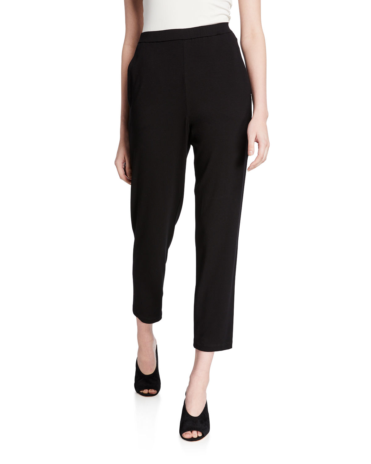 Eileen Fisher Slim Slouchy Ankle Pants