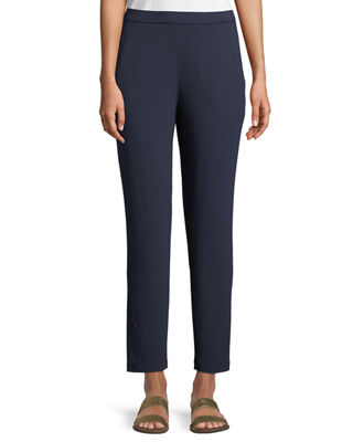 System Stretch Jersey Pull-On Slouchy Ankle Pants, Regular & Petite in Midnight