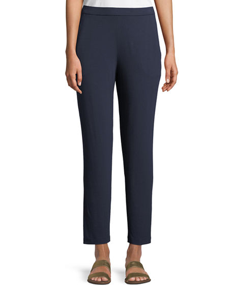 Eileen Fisher PLUS SIZE SLIM SLOUCHY ANKLE PANTS