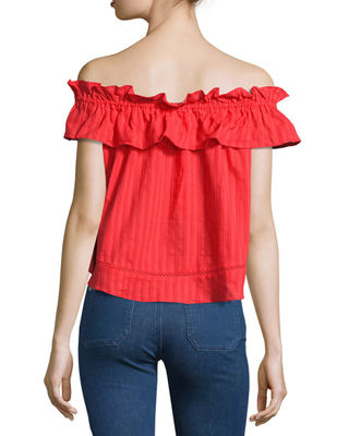 Sofia Cotton Voile Ruffled Top