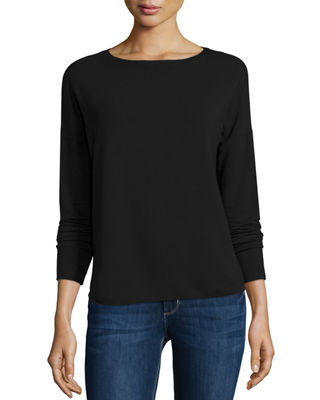 Majestic Paris for Neiman Marcus French Terry Long-Sleeve
