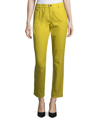 Lafayette 148 New York Thompson Colored Slim-Leg Jeans