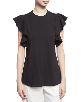Short-Sleeve Ruffle Top