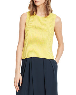 Vince Chunky Rib Sleeveless Crew Tank and Matching