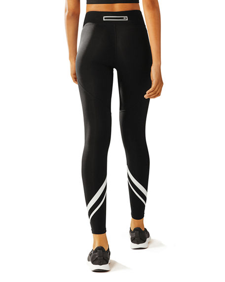 Image 2 of 4: Tory Sport Chevron Full-Length Performance Leggings