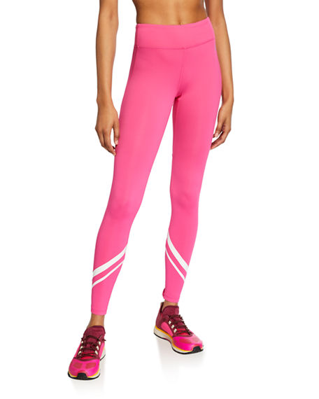 Tory Sport Leggings CHEVRON FULL-LENGTH PERFORMANCE LEGGINGS