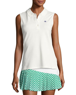 Tory Sport Performance Pique Sleeveless Polo Shirt