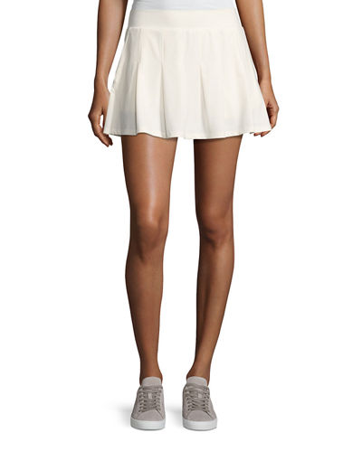 Tory Sport Pleated Jersey Mini Skirt