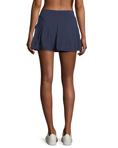 Pleated Jersey Mini Skirt