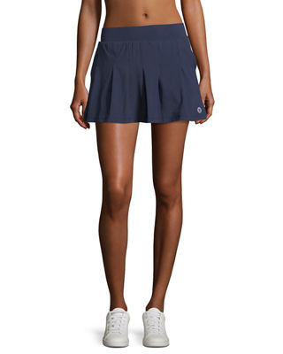 Image 1 of 3: Pleated Jersey Mini Skirt