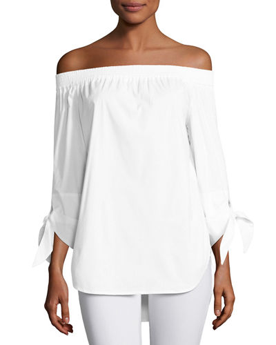 Finley Jill Off-the-Shoulder Tie-Sleeve Blouse