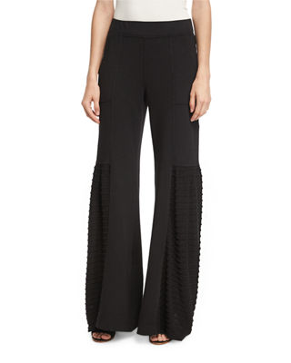 XCVI MELANIE SLUB TERRY WIDE-LEG PANTS