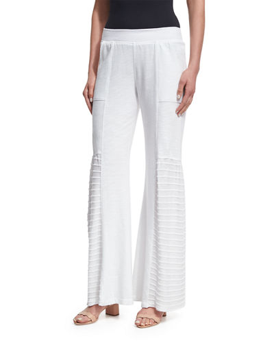 Melanie Slub Terry Wide-Leg Pants, Plus Size