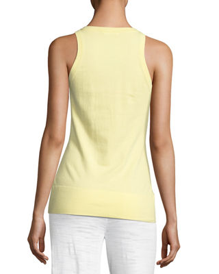 Image 2 of 4: Scoop-Neck Knit Tank