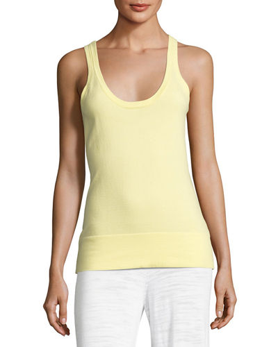 Minnie Rose Scoop-Neck Knit Tank