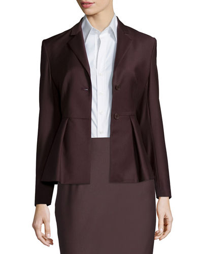 Theory Braneve Wool-Blend Peplum Jacket