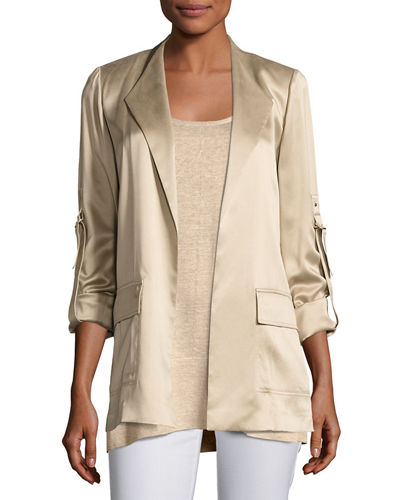 Halden Artistry Silk Open-Front Jacket