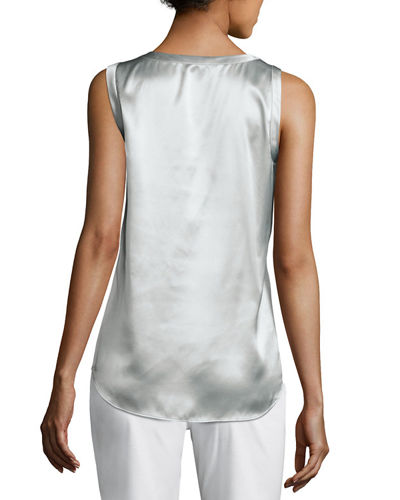 Perla Luxe Reversible Silk Charmeuse Shell