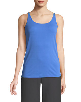Eileen Fisher Silk Jersey Long Slim Camisole, Petite