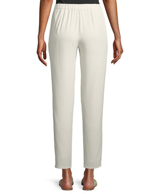 Image 2 of 2: Silk Georgette Crepe Slouchy Ankle Pants, Plus Size