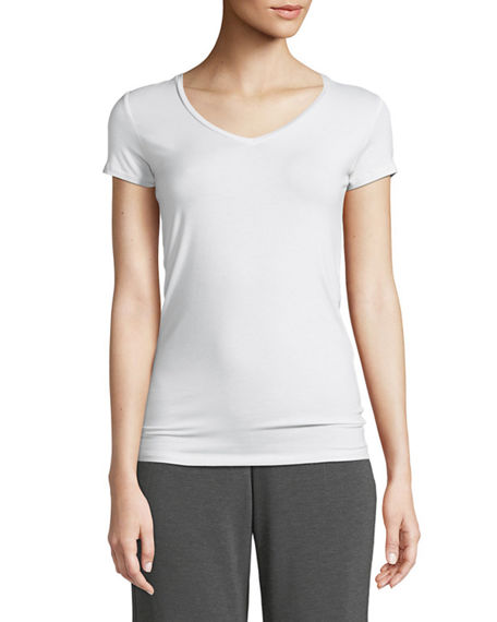 Majestic Filatures Soft Touch Short-Sleeve V-Neck Tee