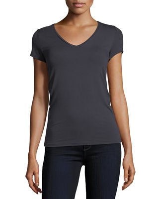 Majestic Paris for Neiman Marcus Soft Touch Short-Sleeve