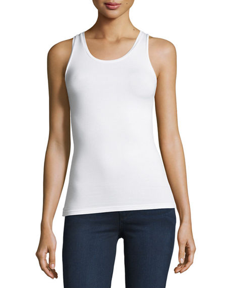 Image 1 of 5: Majestic Filatures Soft Touch Scoop-Neck Tank