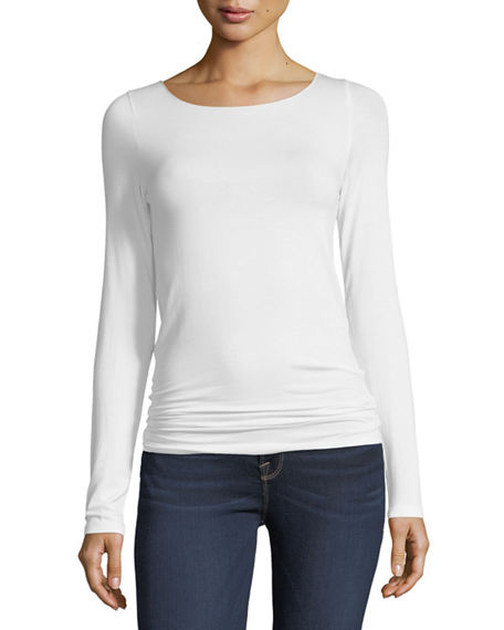 Image 1 of 5: Majestic Filatures Soft Touch Marrow-Edge Long-Sleeve Top