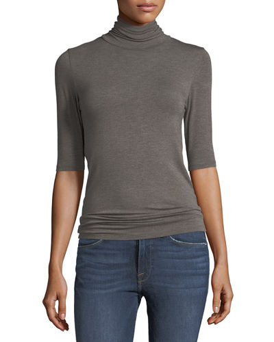 Majestic Paris for Neiman Marcus Soft Touch Half-Sleeve