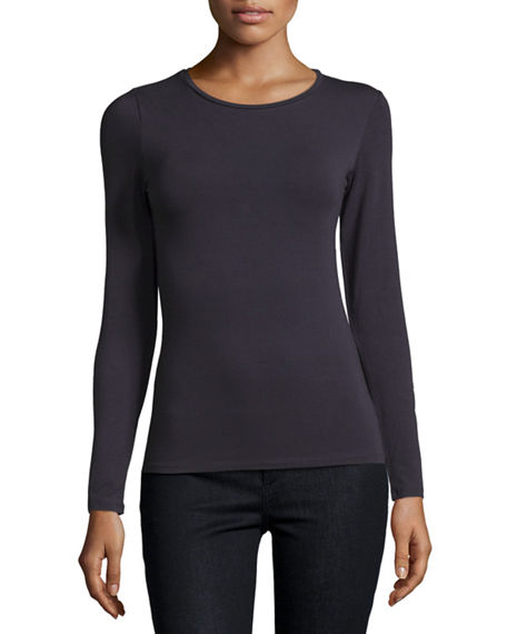 Majestic Filatures Soft Touch Crewneck Top