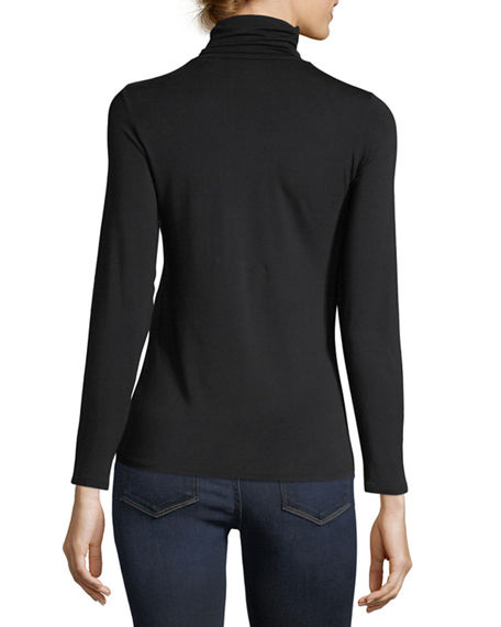 Image 3 of 5: Majestic Filatures Soft Touch Long-Sleeve Turtleneck