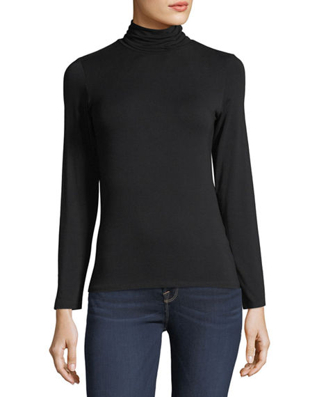 Majestic Filatures Soft Touch Long-Sleeve Turtleneck