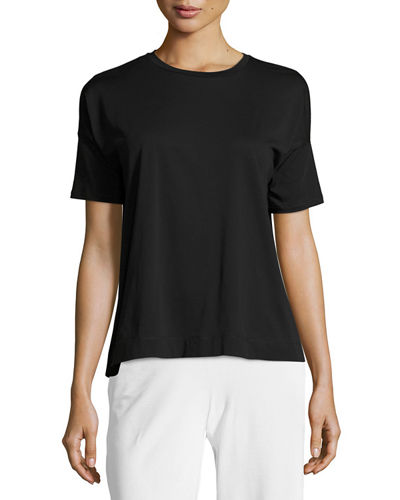 Eileen Fisher Organic Cotton Easy Jersey Tee, Petite