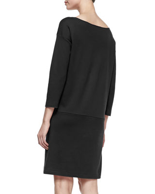 Image 3 of 3: Knit Zip-Pocket Shift Dress