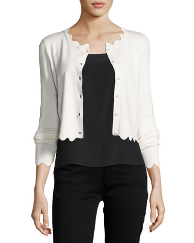 Scalloped Cropped Cardigan