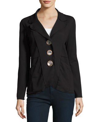 Image 1 of 4: Lompac Metal-Button Jacket, Plus Size