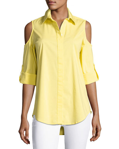 Finley Cold-Shoulder Button-Front Shirt